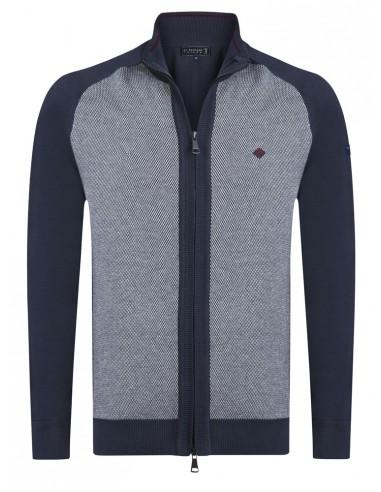 Cardigan Sir Raymond tricot - navy grey