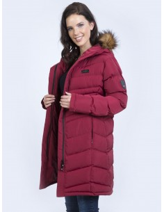 Parka larga Sir Raymond Tailor - dark red