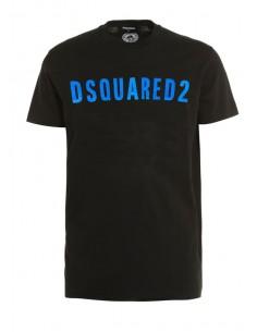 Camiseta dsquared con logo icónico y en color negro