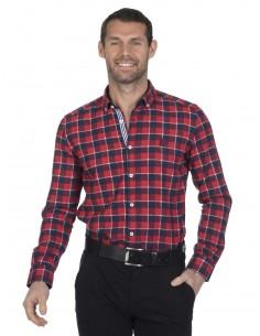 Camisa Sir Raymond Tailor flanel - red