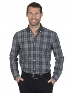 Camisa Sir Raymond Tailor plaid gris
