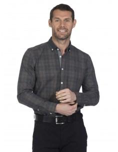 Camisa Sir Raymond Tailor plaid brown
