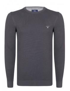 Jersey Gant texturizado en cuello redondo - gris oscuro