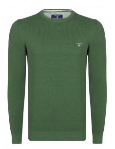Jersey Gant texturizado en cuello redondo - green