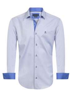 Camisa Sir Raymond Tailor - blue fantasy
