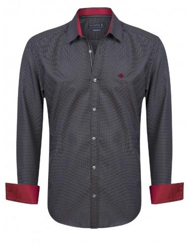 Camisa Sir Raymond Tailor - black red