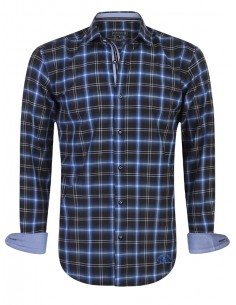 Camisa Sir Raymond Tailor - royal blue check
