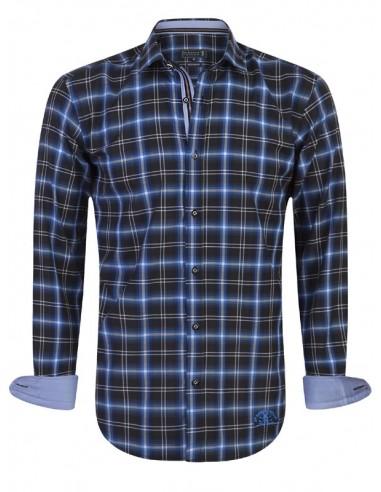Camisa Sir Raymond Tailor - royal blue check