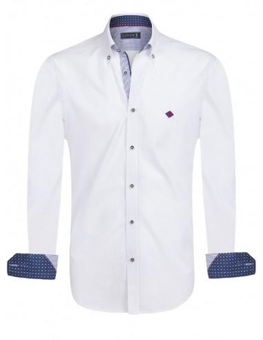 Camisa Sir Raymond Tailor - blanca detalles