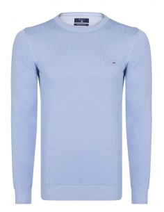 Jersey Gant texturizado en cuello redondo - light blue