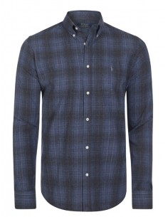 Camisa Polo de hombre regular fit flanel - navy