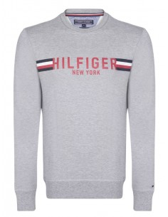 Sudadera Tommy Hilfiger maxilogo - grey athletic