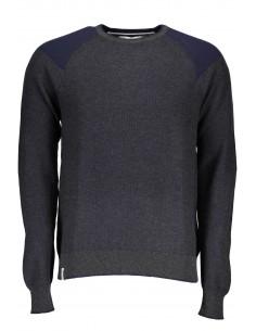 Fred Mello jersey para hombre con detalle en hombrera - gris