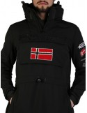 Canguro Geographical Norway en softshell - black