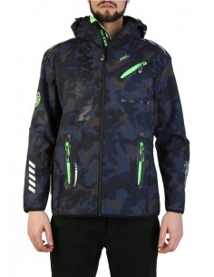 Chaqueta Geographical Norway en softshell camo navy green