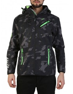 Chaqueta Geographical Norway en softshell camo black green