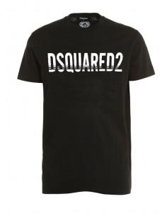 Camiseta dsquared black con logo