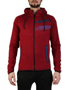 Sudadera Geographical Norway - Goltan burgundy-blu