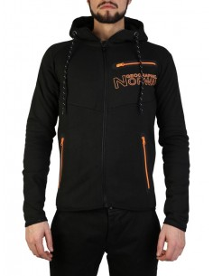 Sudadera Geographical Norway - Goltan black orange
