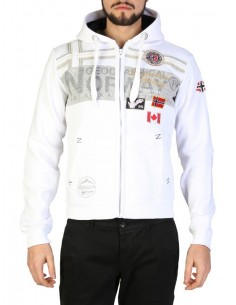 Sudadera Geographical Norway - Garadock white
