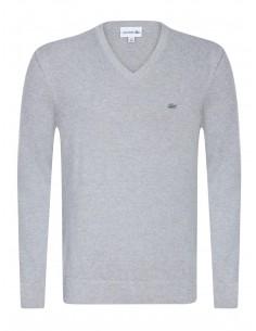 Jersey Lacoste cuello pico texturizado - grey
