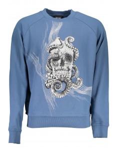 Just Cavalli felpa para hombre - skull blue
