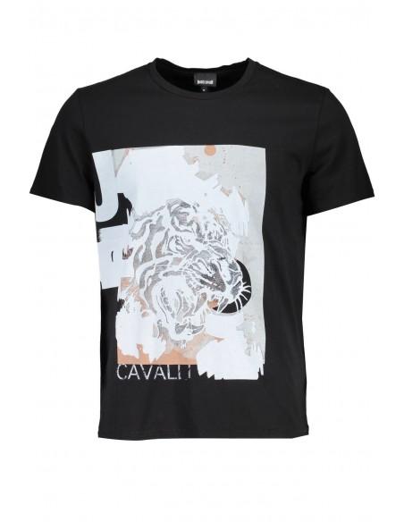 Just Cavalli camiseta para hombre - negra
