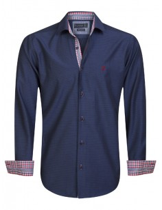 Camisa Sir Raymond Tailor - navy detalles