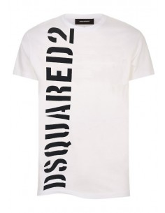 Camiseta dsquared maxilogo white