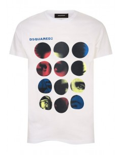 Camiseta dsquared print - white