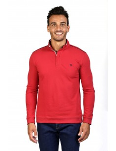 Jersey polo Time of bocha zip - red