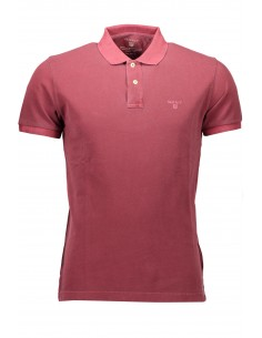 Polo Gant manga corta washed - burdeos