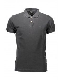 Polo Gant manga corta washed - antracita