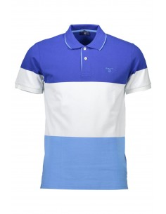Polo Gant manga corta colorblock - blue