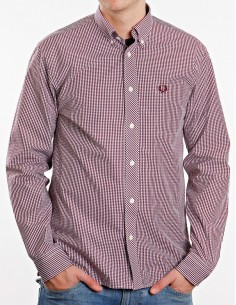 Camisa Fred perry - Classic Gingham red