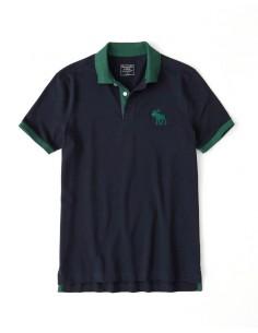 Polo AF con cuello a contraste - navy/green