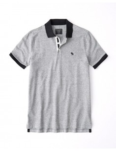 Polo AF con cuello a contraste - grey/black