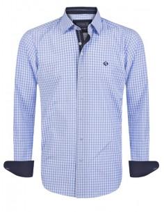 Camisa Sir Raymond Tailor - Vichy celeste