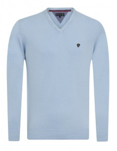 Jersey Sir Raymond Tailor de cuello pico - light blue