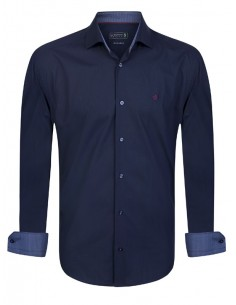 Camisa Sir Raymond Tailor con coderas - navy