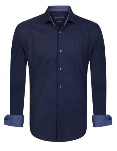 Camisa Sir Raymond Tailor con coderas - navy