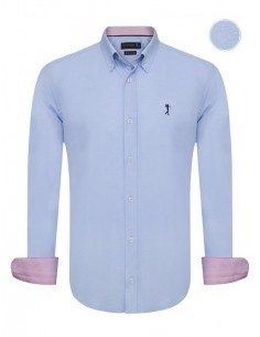 Camisa Sir Raymond Tailor - oxford sky blue