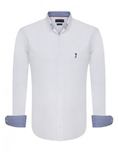 Camisa Sir Raymond Tailor - oxford blanca