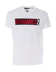 Camiseta dsquared print - white