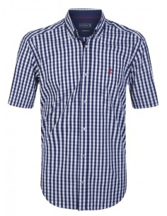 Camisa Sir Raymond Tailor manga corta - Run down navy