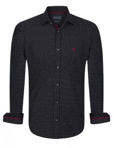 Camisa Sir Raymond Tailor - black fantasy