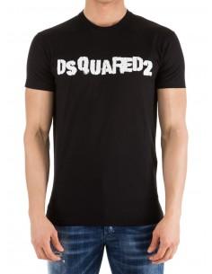 Camiseta dsquared print - negra