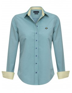 Camisa Sir Raymond Tailor para mujer - color menta y estampada