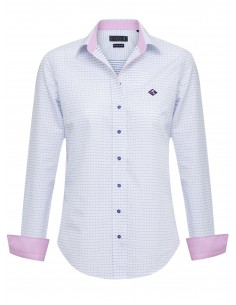 Camisa Sir Raymond Tailor para mujer - color blanco y estampada