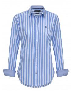 Camisa Sir Raymond Tailor para mujer - rayas celestes